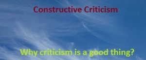 Benefits of constructive criticism