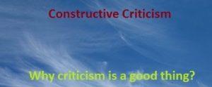 Benefits of constructive criticism
